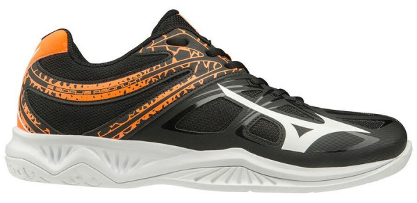 Buty do squasha Mizuno Thunder Blade 2 - black/white/orange