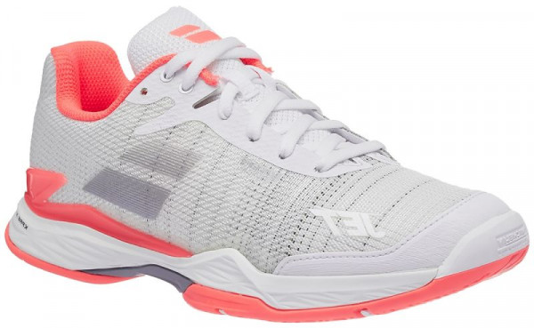 Teniso batai moterims Babolat Jet Mach II All Court Women - white/fluo pink/silver