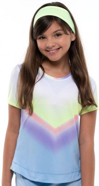 Marškinėliai mergaitėms Lucky in Love Going Wild Ombre S/S Girls - cloud