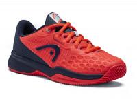 Juniorskie buty tenisowe Head Revolt Pro 3.5 Clay Junior - neon red/dress blue