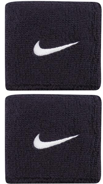 Znojnik za ruku Nike Swoosh Wristbands - obsidian/white