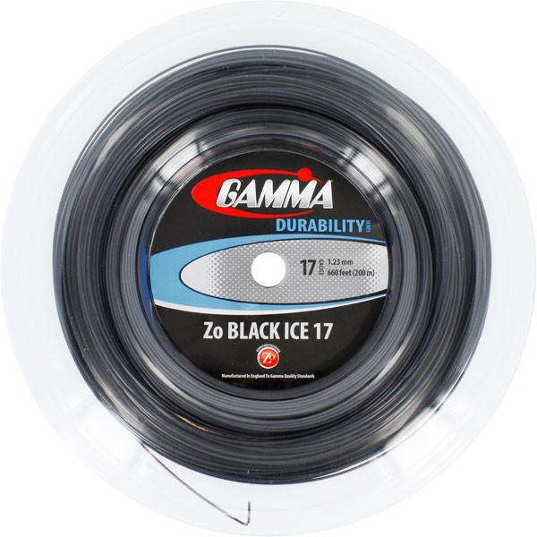 Tenisa stīgas Gamma Zo Black Ice (200 m)