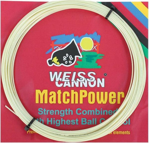Tennisekeeled Weiss Cannon MatchPower (12 m) - natural