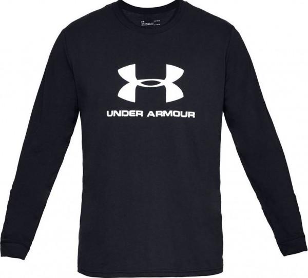 Męski T-Shirt tenisowy Under Armour UA Sportstyle Logo - black