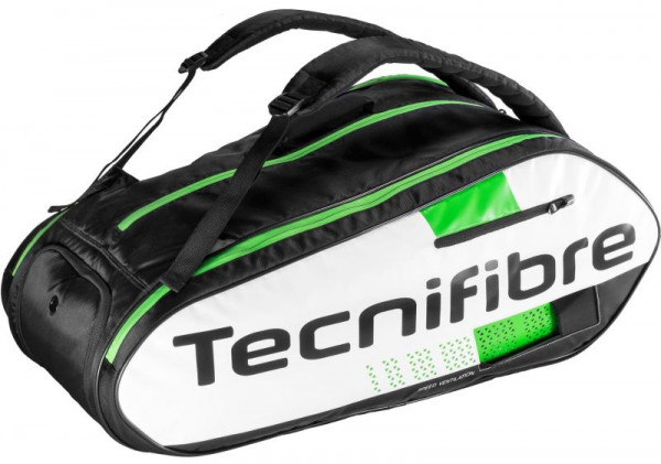 Tennis Bag Tecnifibre Squash Green 12R - white/black/green