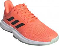 Męskie buty tenisowe Adidas CourtJam Bounce M - dash green/signal coral/tech purple