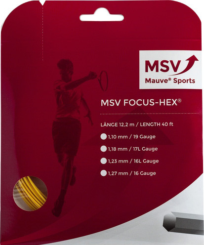 Tennis String MSV Focus Hex (12 m) - yellow