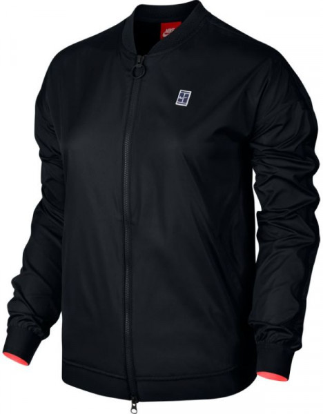 Damska bluza tenisowa Nike Court Bomber EOS Jacket - black/hot punch/white