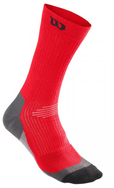 Wilson Men's Color High-End Crew Sock 1pr/pk - 1 para/wilson red/black