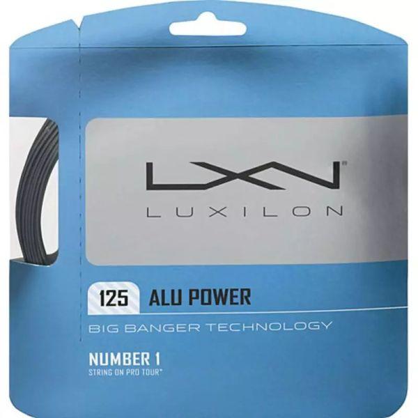 Tenisa stīgas Luxilon Big Banger Alu Power Silver 125 (12.2 m)