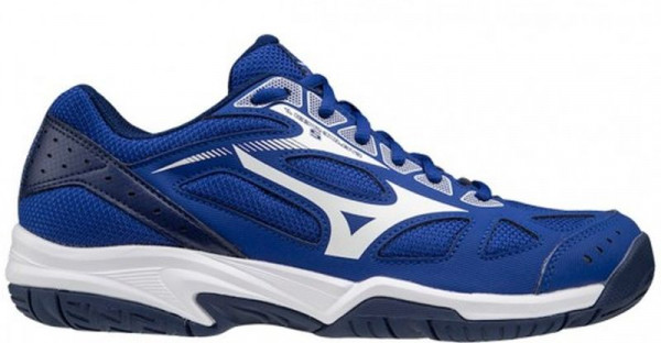Buty do squasha Mizuno Cyclone Speed 2 Jr - reflex blue/white/navy