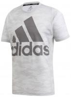 Teniso marškinėliai vyrams Adidas Primeblue Logo Tee M - grey two/grey four