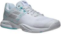 Damskie buty tenisowe Babolat Propulse Blast AC Women - white/blue stream