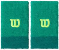 Wilson Extra Wide Wristband - deep green/lagoon green/sharp green