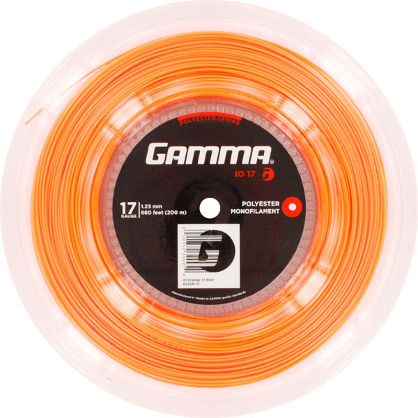 Teniska žica Gamma iO (200 m) - orange
