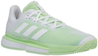Adidas SoleMatch Bounce W - cloud white/cloud white/glow green