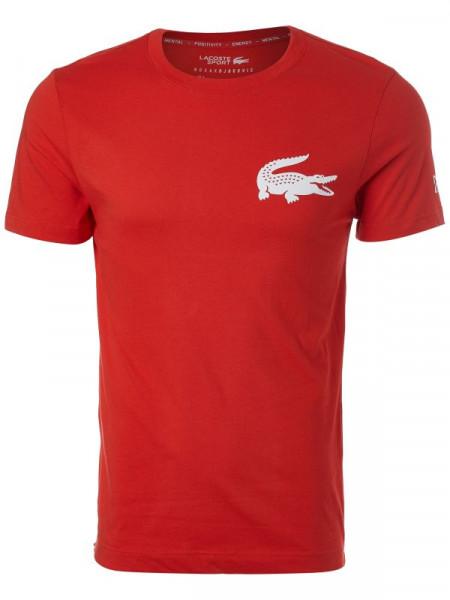Teniso marškinėliai vyrams Lacoste T-shirt SPORT x Novak Djokovic - red