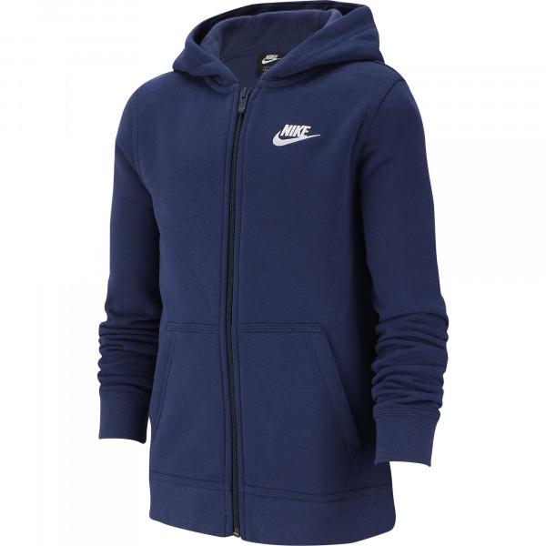 Bluza chłopięca Nike NSW Hoodie FZ Club B - midnight navy/midnight navy/white