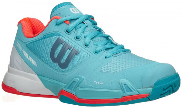 Wilson Rush Pro 2.5 W - blue curacao/white/fiery coral