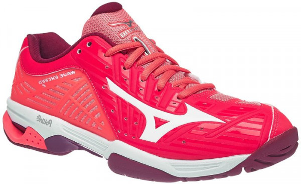 Damskie buty tenisowe Mizuno Wave Exceed Tour 2 AC - fiery coral/white/beet red