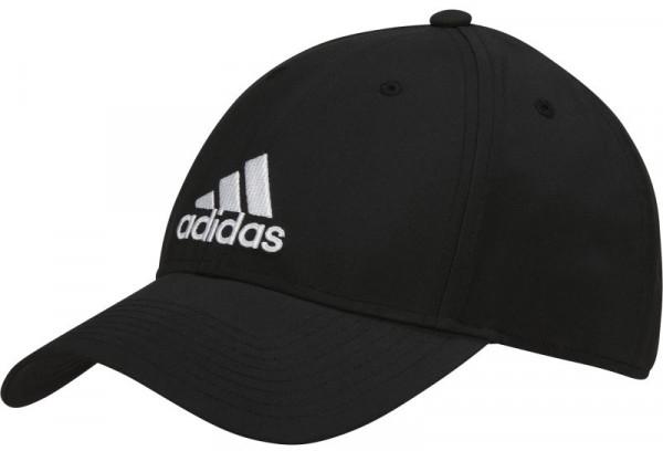 Czapka tenisowa Adidas 6 Panel Classic Lightweight Metal Badge - black/white