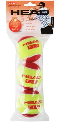Juniorskie piłki tenisowe Head T.I.P. Red 3B