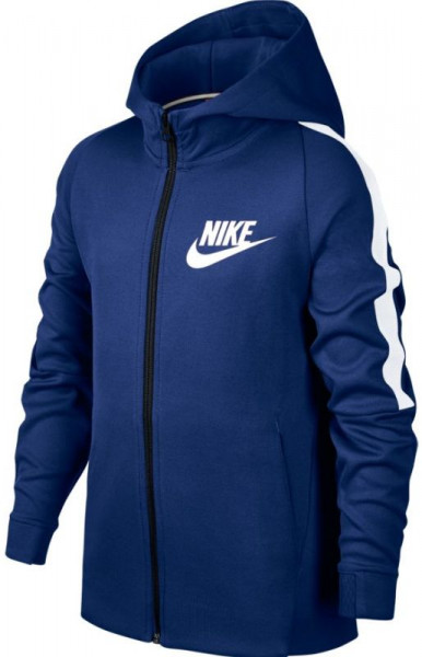 Džemperis zēniem Nike Swoosh Tribute Jacket - deep royal blue/white