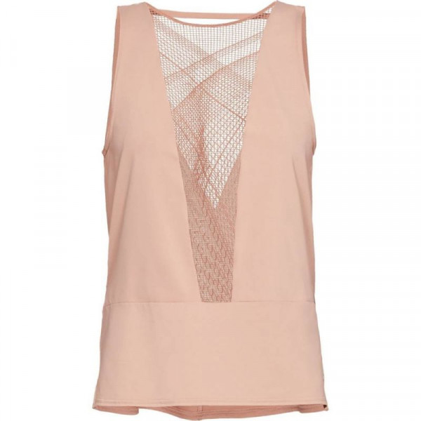 Damski top tenisowy Under Armour Misty Signature Embroidery Tank - bashful pink