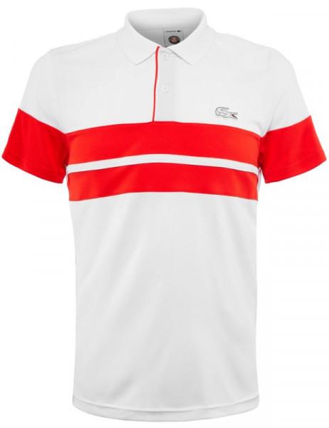 d46e29f65 Męskie polo tenisowe Lacoste Men's SPORT Roland Garros Edition Piqué Polo -  white/red/