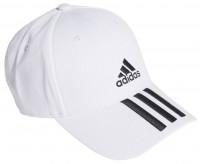 Czapka tenisowa Adidas Baseball 3 Stripes Twill Cap - white/black/black