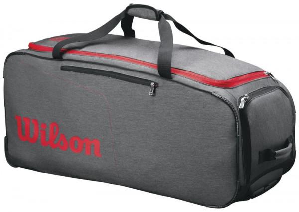 Tennisekott Wilson Traveler Wheeled Coach Duffel - grey/red