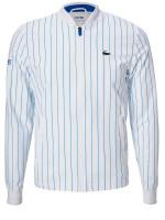 Męska bluza tenisowa Lacoste Men's SPORT x Novak Djokovic Striped Teddy Jacket - white/blue