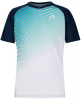 Poiste maika Head Striker T-Shirt B - turquoise/print performance