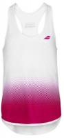 Koszulka dziewczęca Babolat Compete Tank Top Girl - white/vivacious red