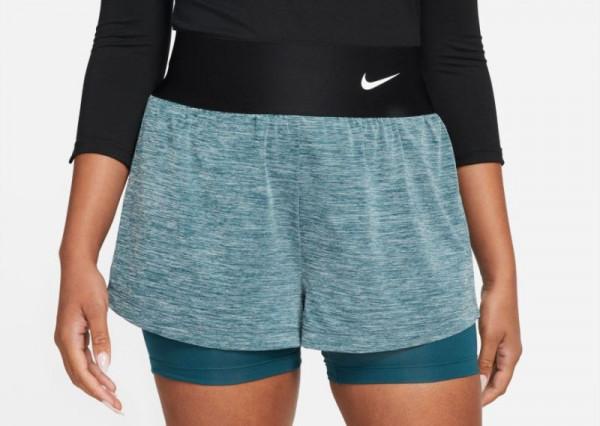 Naiste tennisešortsid Nike Court Dri-Fit Advantage Short W - dark teal green/dark teal green/white