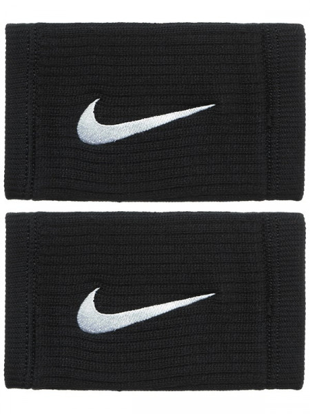 Nike Dri-Fit Reveal Double-Wide Wristbands - black/cool grey/white