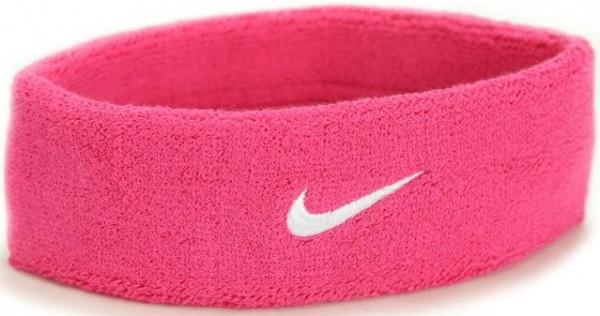 Znojnik za glavu Nike Swoosh Headband - vivid pink/white
