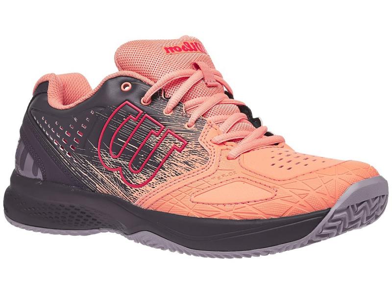 Damskie buty tenisowe Wilson Kaos Comp 2.0 W - papaya punch/india ink/cayenne