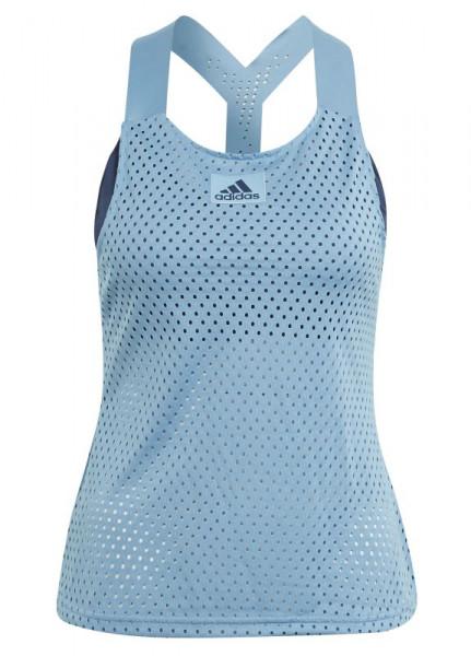 Damski top tenisowy Adidas Heat Ready Primeblue Y-Tank Top W - hazy blue/crew navy