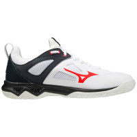 Męskie buty do squasha Mizuno Ghost Shadow - white/ignition red/salute black