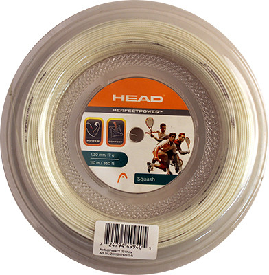 Skvošo stygos Head Perfect Power (110 m) - white