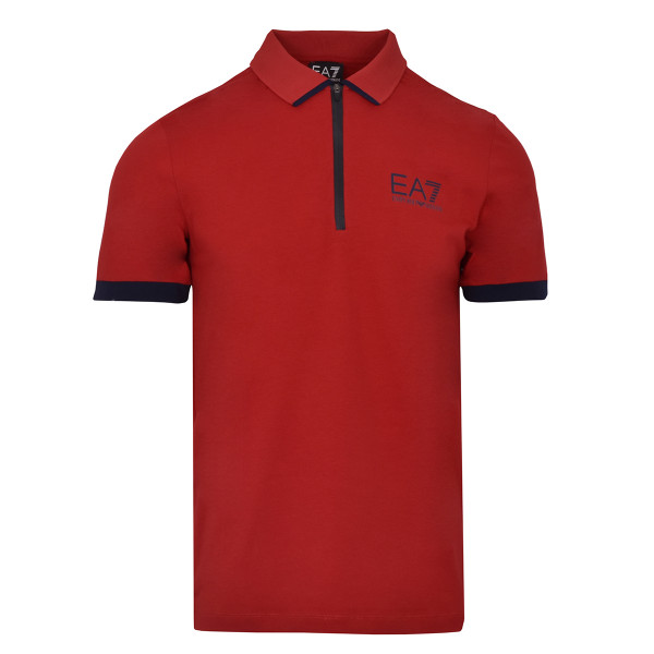 Polo marškinėliai vyrams EA7 Man Jersey Polo Shirt - racing red