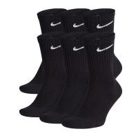 Teniso kojinės Nike Everyday Cotton Cushioned Crew - 6 poros/black/whtie