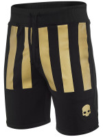 Męskie spodenki tenisowe Hydrogen US Open Stripes Shorts - black/gold