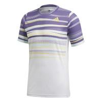 Męski T-Shirt Adidas Freelift Tee Heat Ready - white/shock yellow