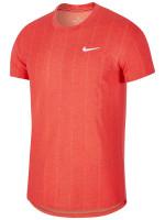 Męski T-Shirt Nike Court M Challenger Top SS - habanero red/white