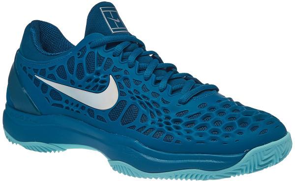 half off c5750 b9425 Męskie buty tenisowe Nike Air Zoom Cage 3 Clay - green abyss metallic silver
