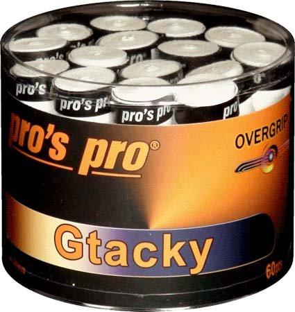 Owijki tenisowe Pro's Pro G Tacky 60P - white