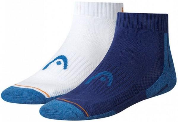 Skarpety tenisowe Head Performance Quarter - 2 pary/clematis blue/white