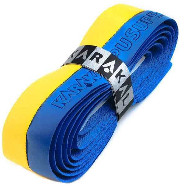 Käepideme liimlindid vahetamiseks Karakal PU Super Grip Duo (1 szt.) - blue/yellow